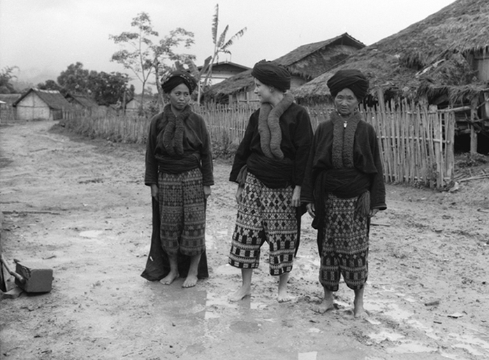 In a Yao village in the Golden Triangle where I heard a man had walked on the moon, Laos, 1969.