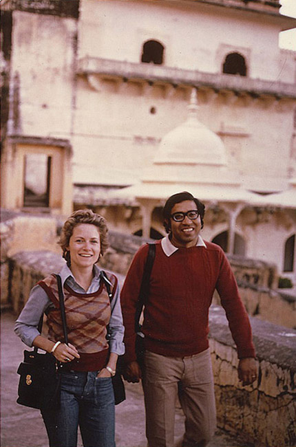 With my husband Raghubir Singh, Amber, Rajasthan, 1978. (Photo Bruno Barbey)